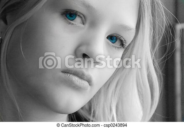 hermoso, adolescente - csp0243894