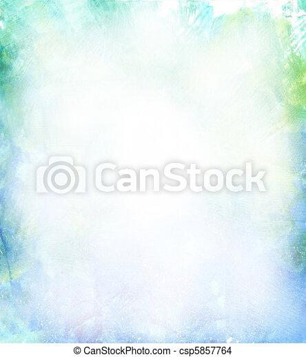 Hermoso fondo acuarela en verde suave, azul y amarillo - csp5857764