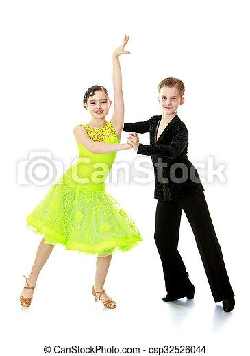 hermoso, baile, pareja - csp32526044