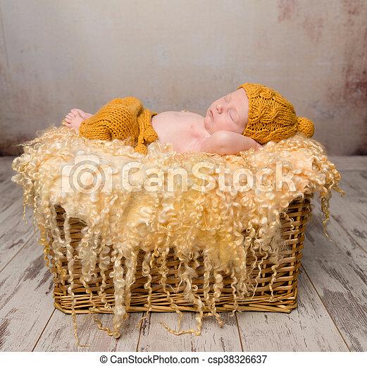 Canasta De Recien Nacido.Hermoso Cesta De Mimbre Bebe Recien Nacido