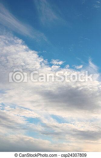 hermoso, cielo azul - csp24307809