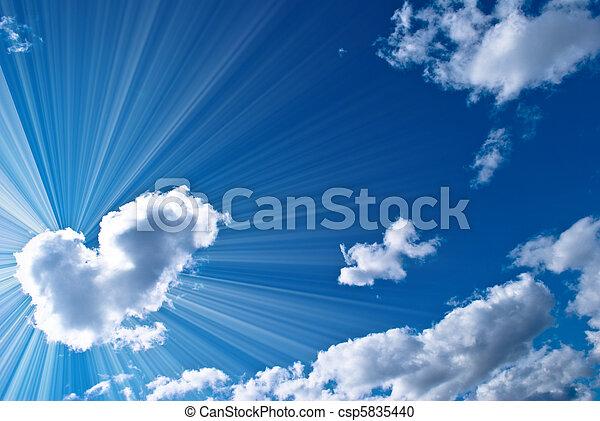 hermoso, cielo azul - csp5835440