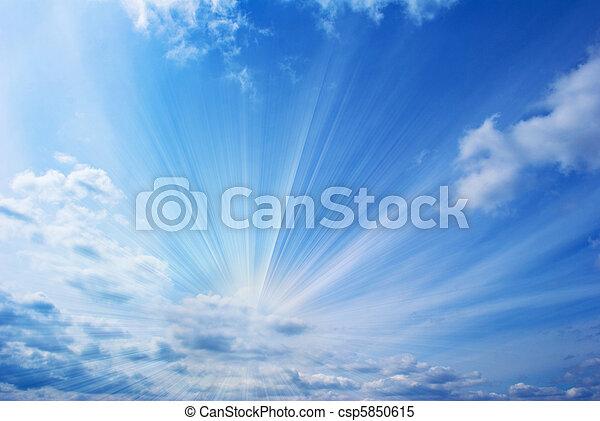hermoso, cielo azul - csp5850615