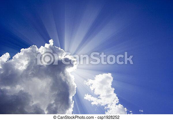 hermoso, cielo azul - csp1928252