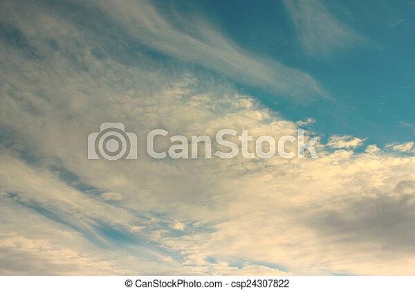 hermoso, cielo azul - csp24307822