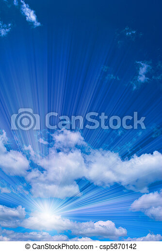 hermoso, cielo azul - csp5870142