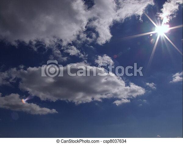 hermoso, cielo azul - csp8037634