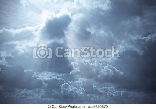 hermoso, cielo azul - csp5850579