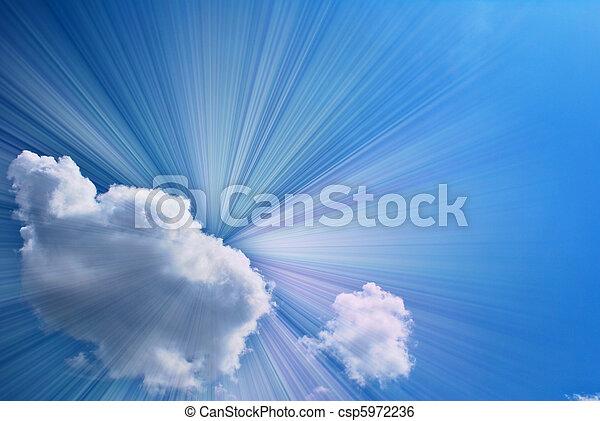 hermoso, cielo azul - csp5972236