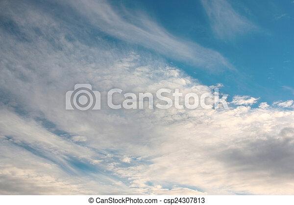 hermoso, cielo azul - csp24307813