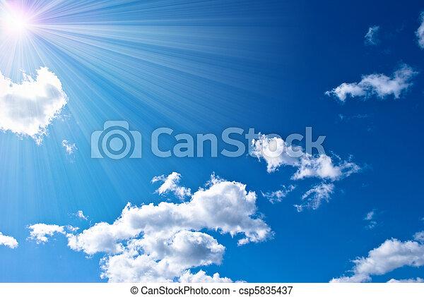 hermoso, cielo azul - csp5835437