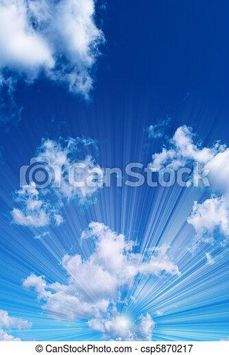 hermoso, cielo azul - csp5870217