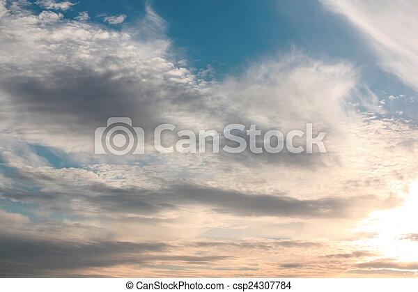 hermoso, cielo azul - csp24307784
