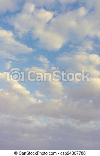 hermoso, cielo azul - csp24307788