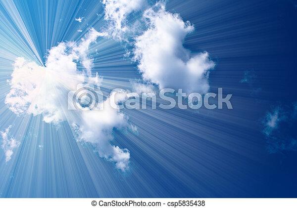hermoso, cielo azul - csp5835438