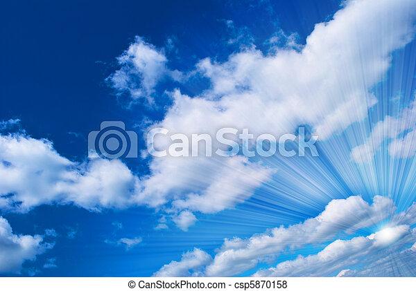 hermoso, cielo azul - csp5870158