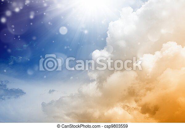 Hermoso cielo - csp9803559