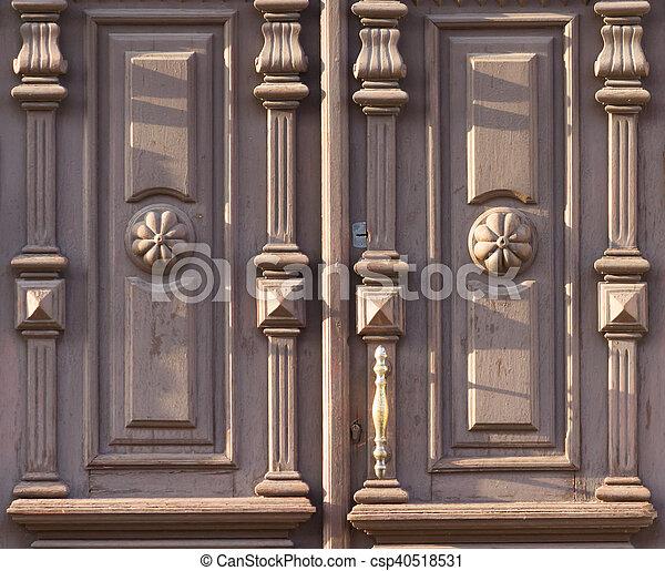 Hermoso De Madera Viejo Puertas Patron