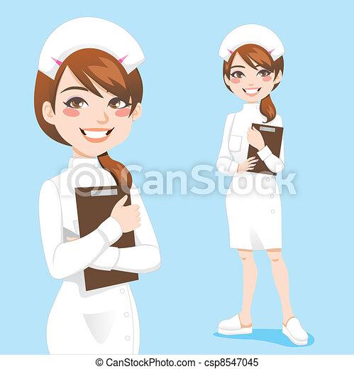 Bonita enfermera - csp8547045