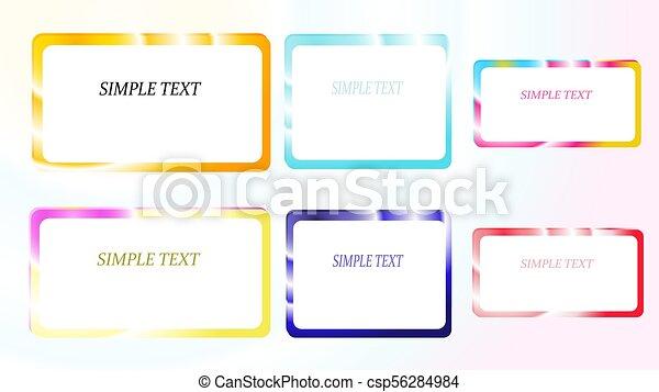 c4cf9fef0376 hermoso, excepcional, fijar el cuadrado, brillante, colorido, simple,  overflows, seis, text., ilustración, metálico, gradiente, resumen, vector,  ...