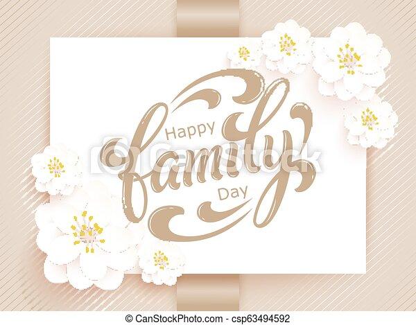 Elegante Vector Feliz Tarjeta De Día Familiar Tarjeta De