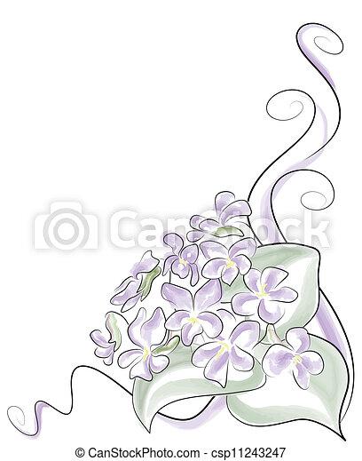 Hermosa flor violeta primaveral - csp11243247