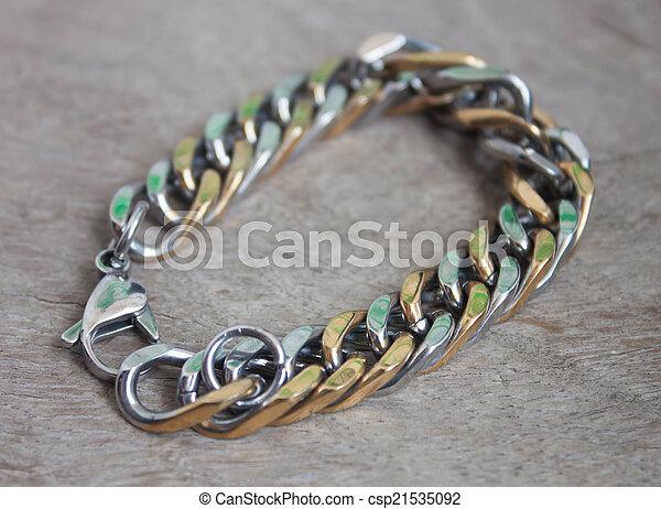 96fd30015210 hermoso, guy., joyas, moda, pulsera, oro, plata