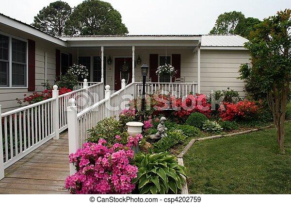 hermoso, hogar, rampa, desventaja - csp4202759
