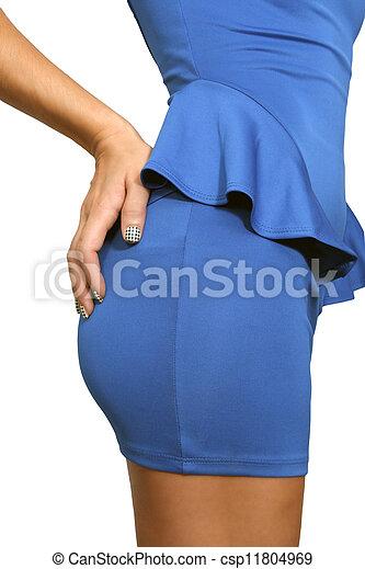 Hermoso trasero femenino con líneas panty (2) - csp11804969