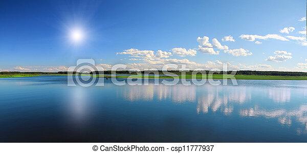 hermoso, lago - csp11777937