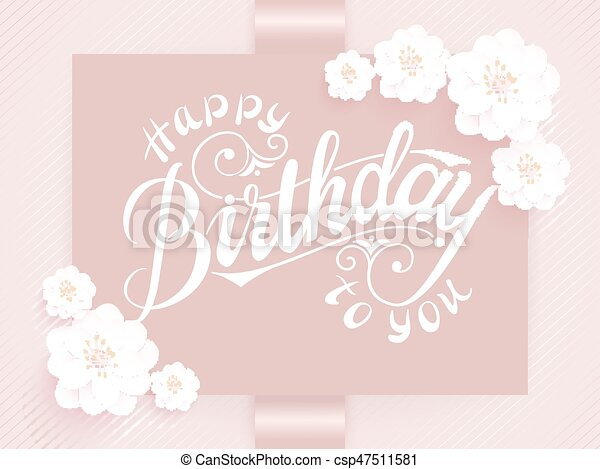 Vector Elegante Feliz Cumpleaños A Tu Tarjeta Tarjeta De