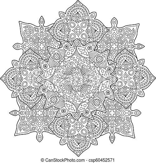 Hermosa página de colorear con un patrón lluvioso - csp60452571