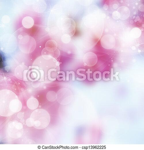 Hermoso fondo abstracto de luces navideñas - csp13962225