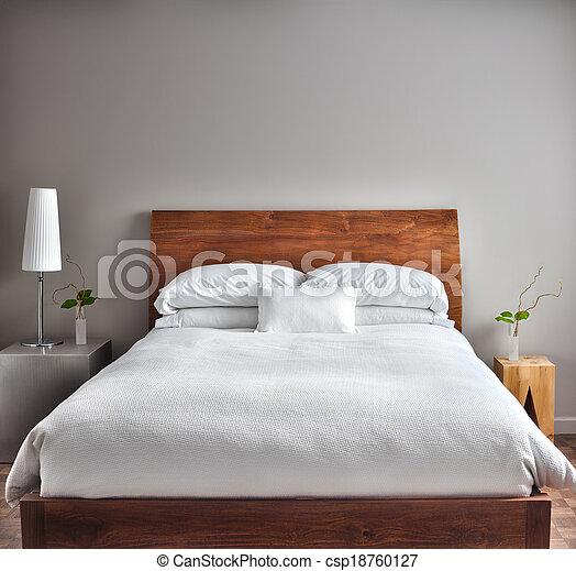 Hermosa habitación limpia y moderna - csp18760127