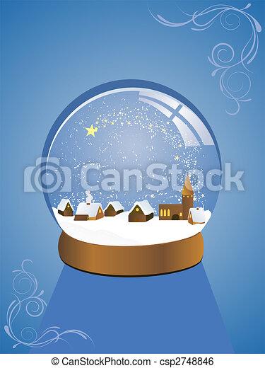 Hermoso domo de nieve - csp2748846