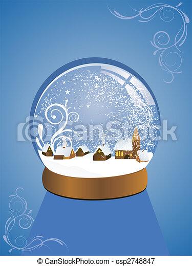 Hermoso domo de nieve - csp2748847