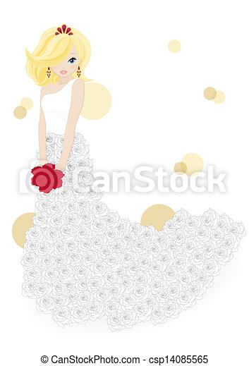Hermosa novia - csp14085565