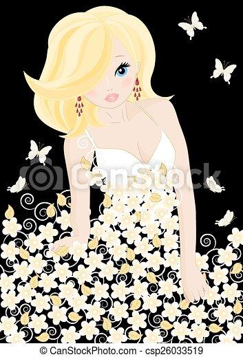 Hermosa novia - csp26033519
