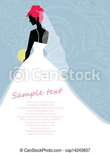 Hermosa novia - csp14243607