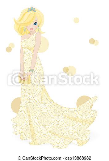 Hermosa novia - csp13888982
