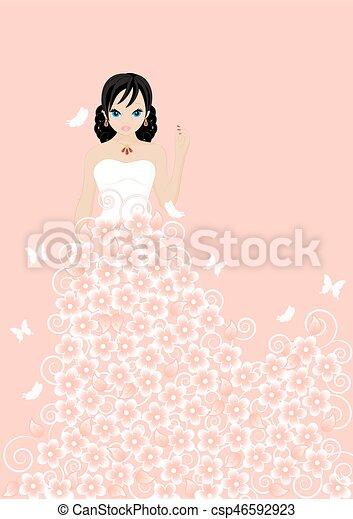 Hermosa novia - csp46592923