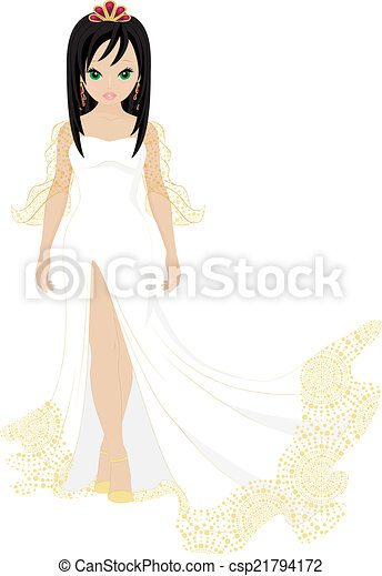 Hermosa novia - csp21794172