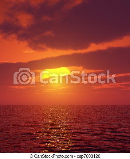 Hermosa puesta de sol - csp7603120