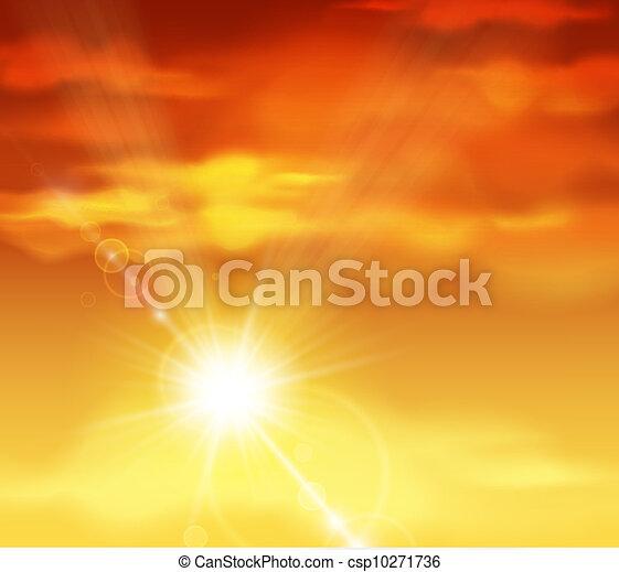 Hermosa puesta de sol - csp10271736