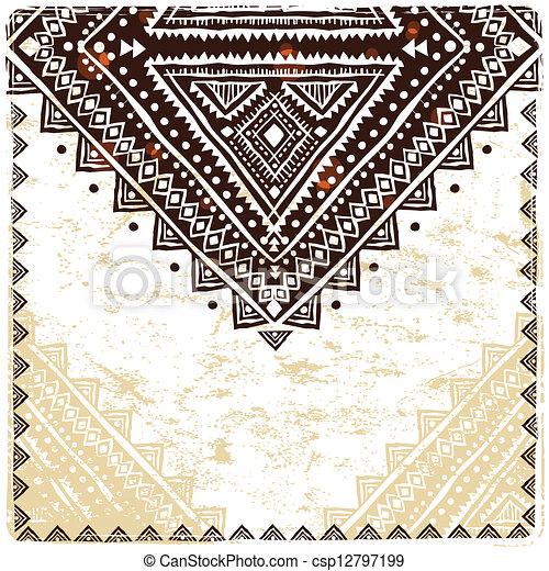 Hermoso adorno étnico - csp12797199