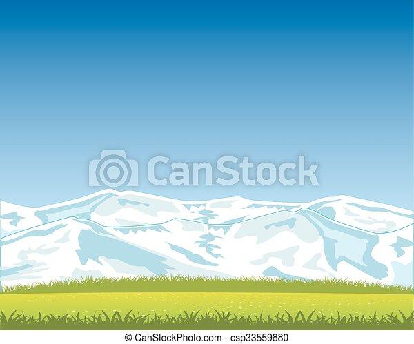 Hermoso paisaje con montaña - csp33559880