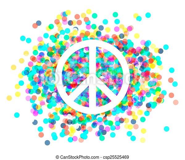 Señal de paz. Hermoso símbolo de paz. - csp25525469