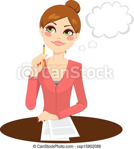 Hermosa secretaria - csp15902086