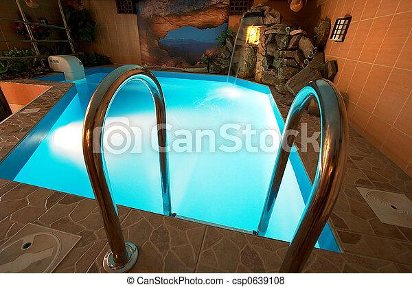 hermoso, piscina - csp0639108