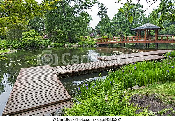 Hermoso plantas jard n de madera japon s muelle plantas puente ngulo jard n muelle - Plantas jardin japones ...
